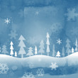 Blue christmas background, vector illustration — Stock Photo
