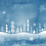 Blue christmas background, vector illustration — Stock Photo #7183720