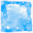 Blue christmas background, vector illustration - Stock Photo