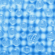 Original droplet on a checkered background - Stock Photo