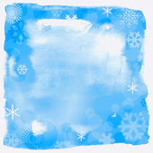 Blue christmas background, vector illustration — Stockfoto