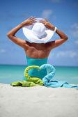 Entspannen sie am strand — Stockfoto