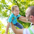Happy father and son have fun at park — Stock Photo #6768689