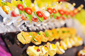 Buffet food closeup — Stock Photo