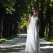 Beautiful bride outdoor — Stock Photo #6849151