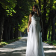 Beautiful bride outdoor — Stock Photo #6849206