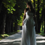 Beautiful bride outdoor — Stock Photo #6849266