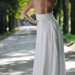 Beautiful bride outdoor — Stock Photo #6849428