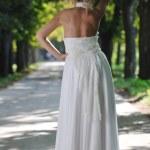 Beautiful bride outdoor — Stock Photo #6849575