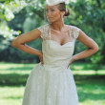 Beautiful bride outdoor — Stock Photo #6850211