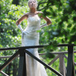 Beautiful bride outdoor — Stock Photo #6856207