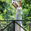 Beautiful bride outdoor — Stock Photo #6856663