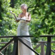 Beautiful bride outdoor — Stock Photo #6856970