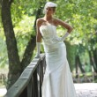 Beautiful bride outdoor — Stock Photo #6856994