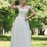 krásná nevěsta venkovní — Stock fotografie
