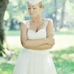 noiva linda ao ar livre — Foto Stock