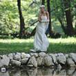 Beautiful bride outdoor — Stock Photo #6989706