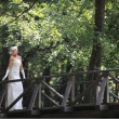 Beautiful bride outdoor — Stock Photo #6989751