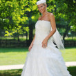 Beautiful bride outdoor — Foto Stock