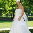Beautiful bride outdoor — Foto de Stock