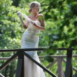 Royalty-Free Stock Photo: Beautiful bride outdoor