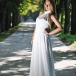 Beautiful bride outdoor - Foto Stock
