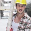 Hard worker on construction site — Stock Photo #7006157