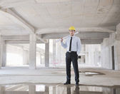 Arquitecto en obra — Foto de Stock