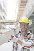Trabajador en construcción — Foto de Stock