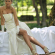 Beautiful bride outdoor — Stockfoto #7032218