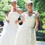 mooie bruiden buiten — Stockfoto