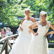 Beautiful brides outdoor — Foto de Stock