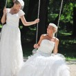 Beautiful brides outdoor — ストック写真