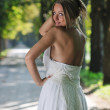 Beautiful bride outdoor — Stock Photo #7094210