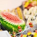 Buffet food closeup — Stock Photo