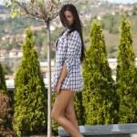 Beautiful young lady posing in garden — Stock Photo #7266122
