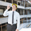 Architect on construction site — Stock Photo