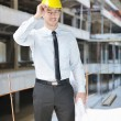 Architect on construction site - Stockfoto