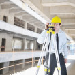 Architect on construction site - Foto Stock