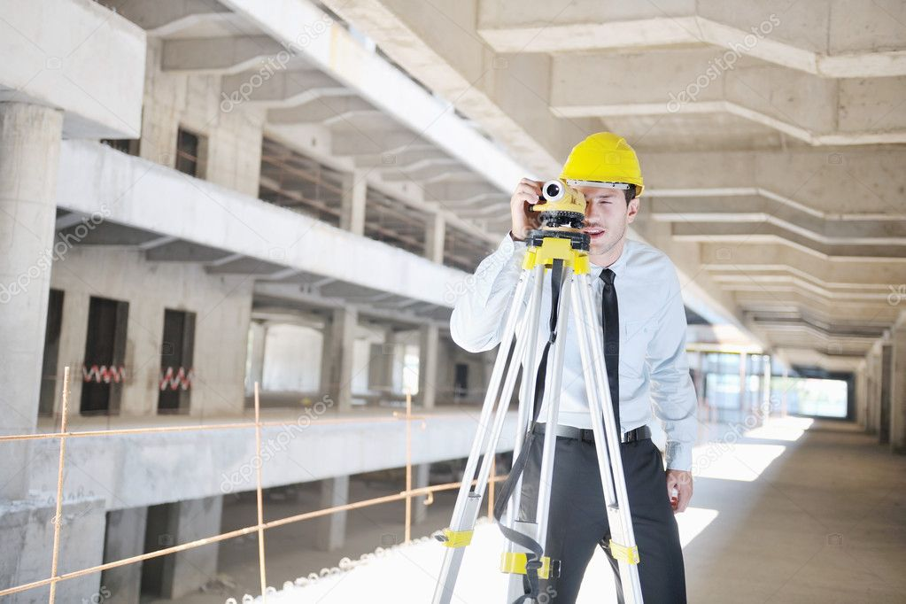 Business man Architect engineer manager at construction site project — Stock Photo #7269820