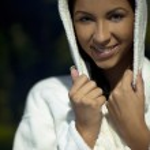 Young woman take a steam bath — Stock Photo #7297611