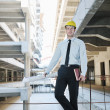 Architect on construction site — Foto Stock