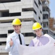 Stock Photo: Team of architects on construciton site