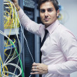 System fail situation in network server room — Stock Photo #7335136