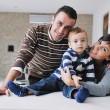 Happy young family have fun at home — Stock Photo #7408498