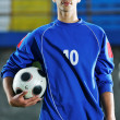 Soccer player portrait — Stock Photo