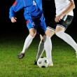 Football players in action for the ball — Stock Photo #7694351