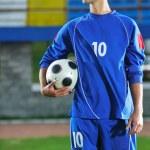 Soccer player portrait — Stock Photo