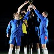 Football players celebrating the victory — Stock Photo #7694457
