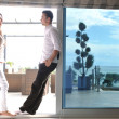 Couple relaxing on balcony — Stock Photo